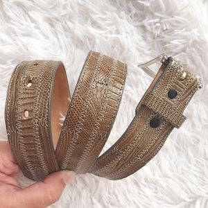 Tony Lama Lizard Skin Belt Size 30